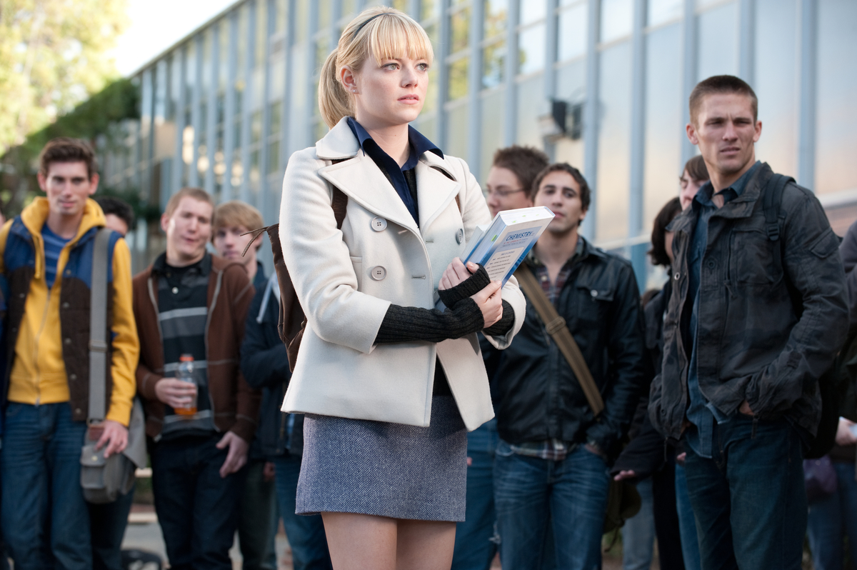 the rebooted amazing spider man franchise went with gwen stacy instead of mary jane watson