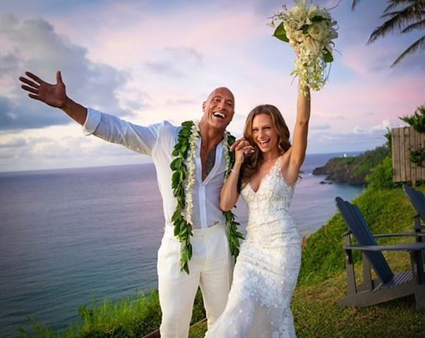 Dwayne Johnson marriage to Lauren Hashian on Instagram