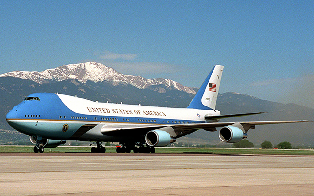 Air Force One landed