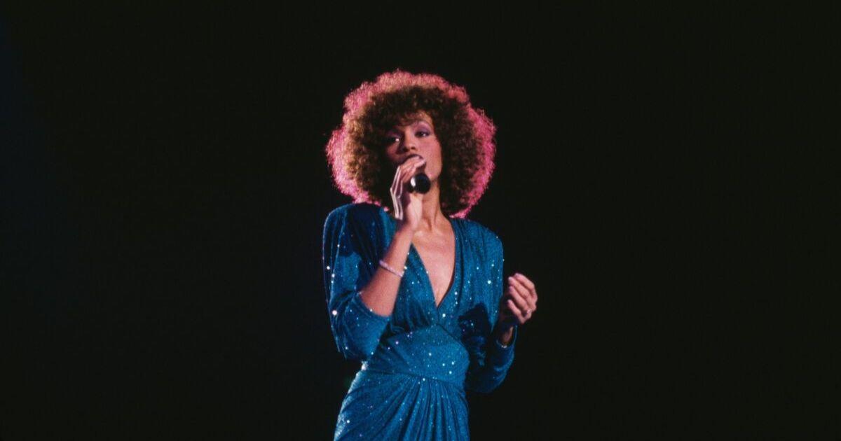 American singer Whitney Houston in concert, circa 1986. (