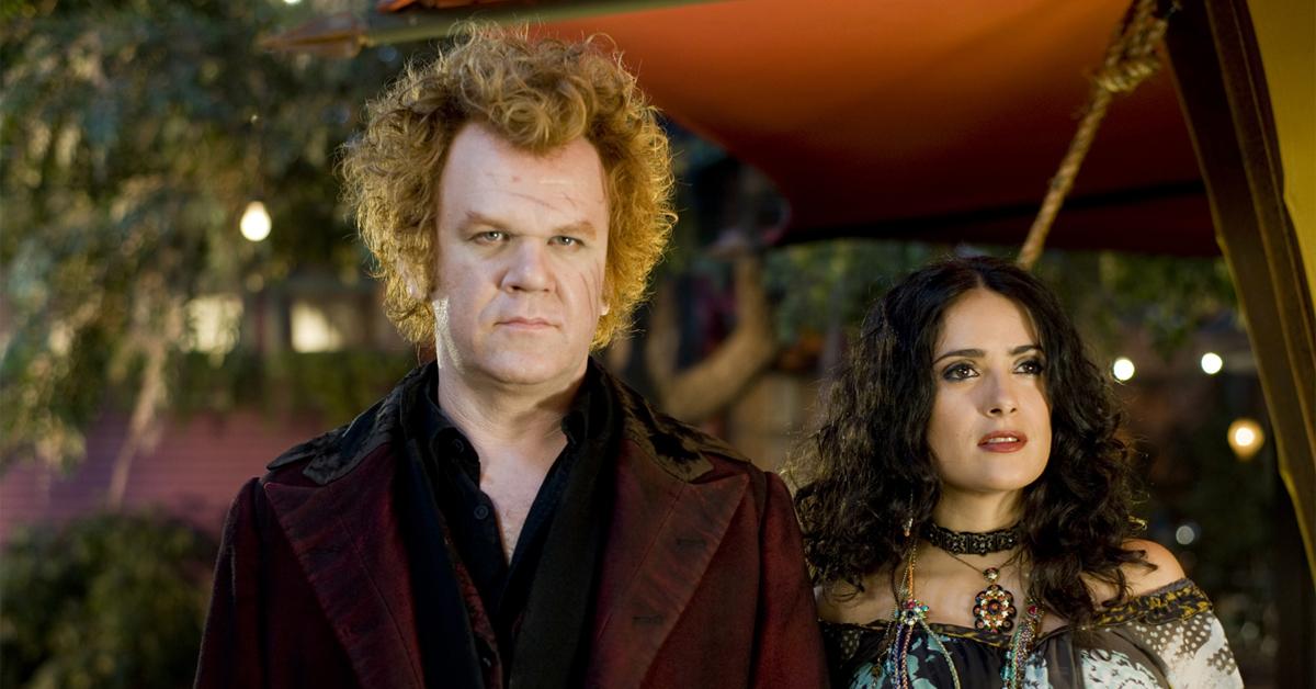 john c. reilly and salma hayek in costume