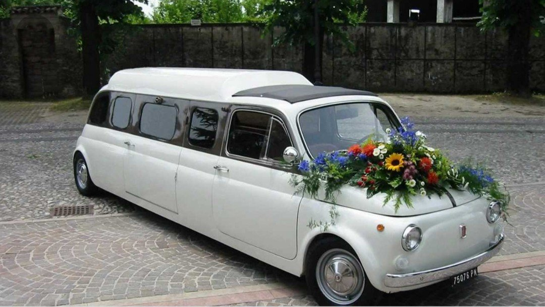 a fiat turned into a limo