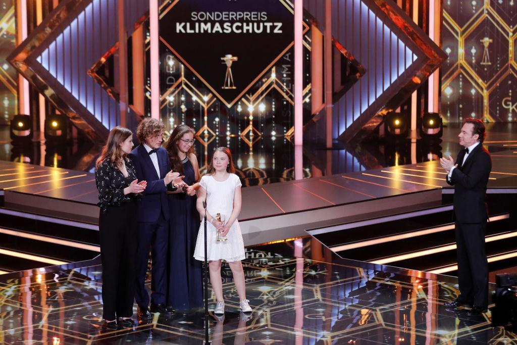 Greta receives a golden camera award