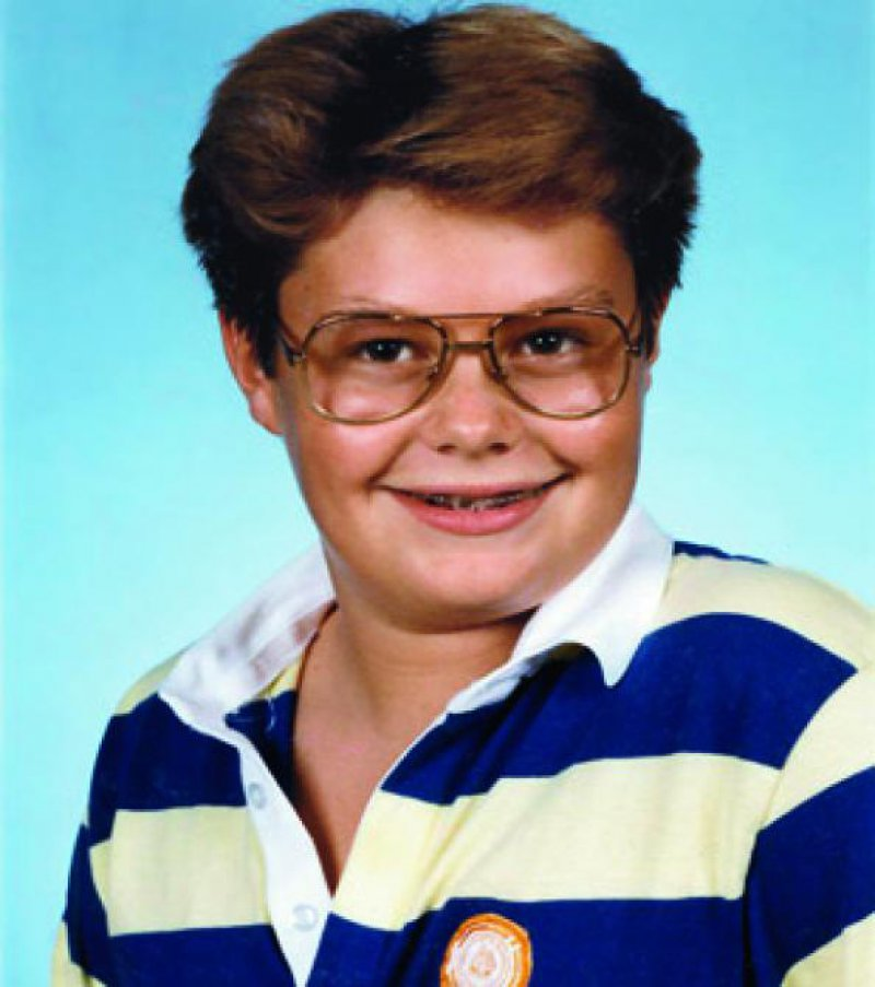 Ryan Seacrest in a yearbook photo