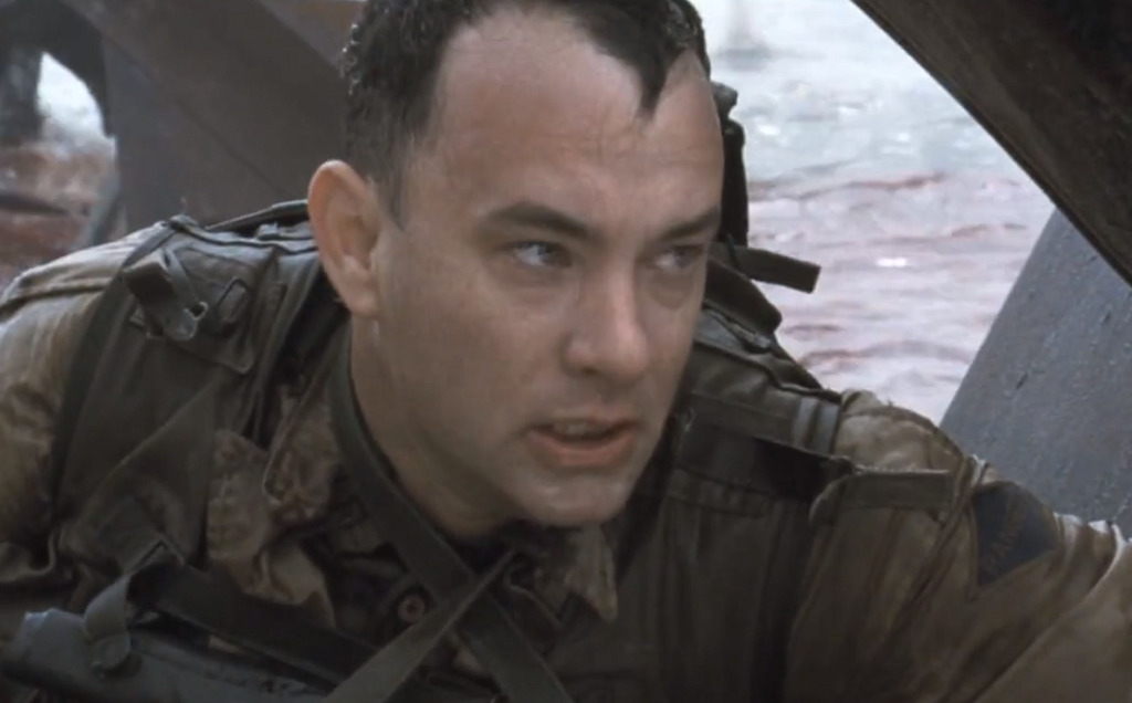 Tom Hanks at the battle of Omaha