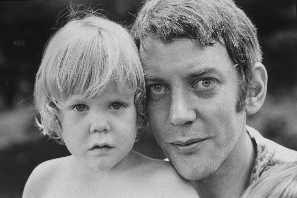 Donald Sutherland with son Keifer