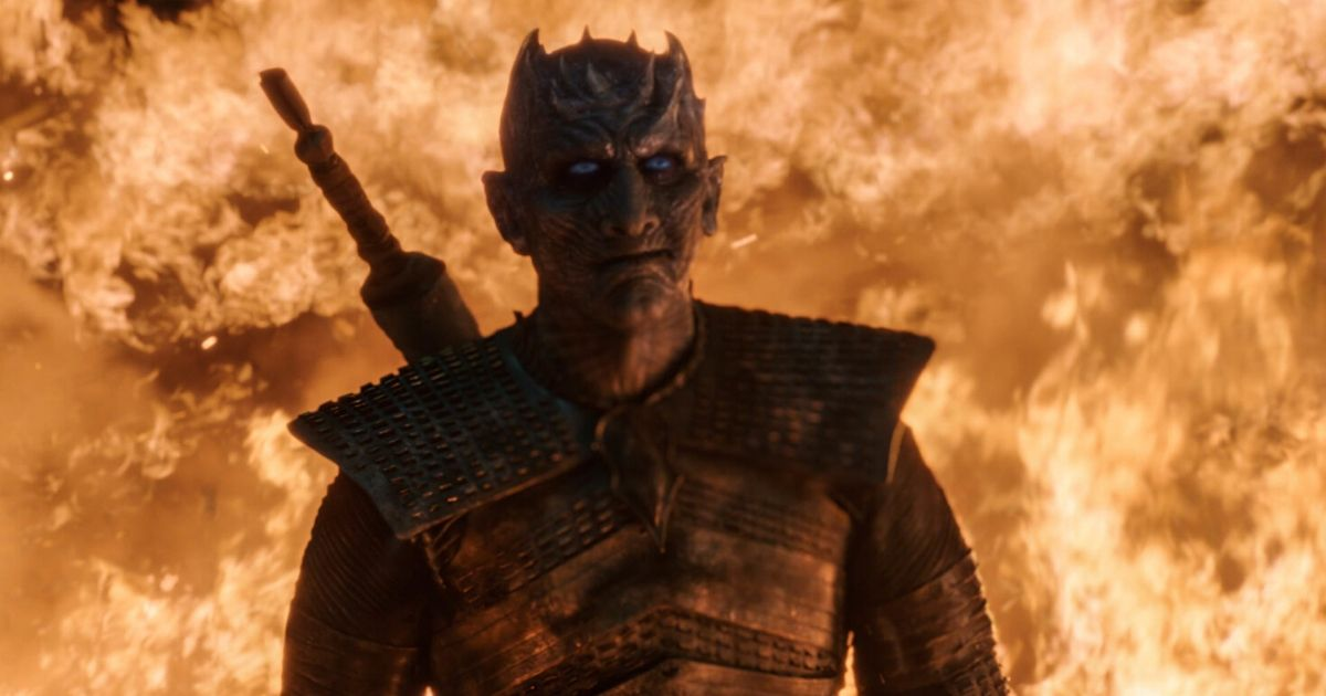 The Night King in a still from the final season of Game of Thrones