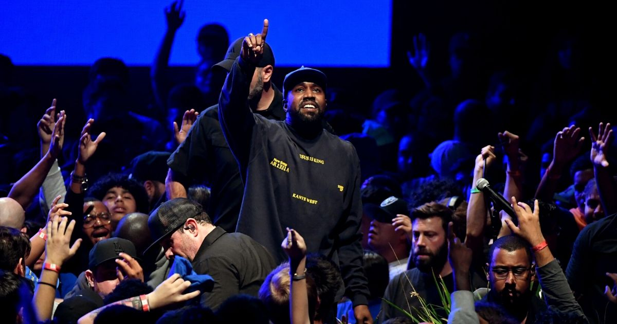 Kanye West performs onstage during his