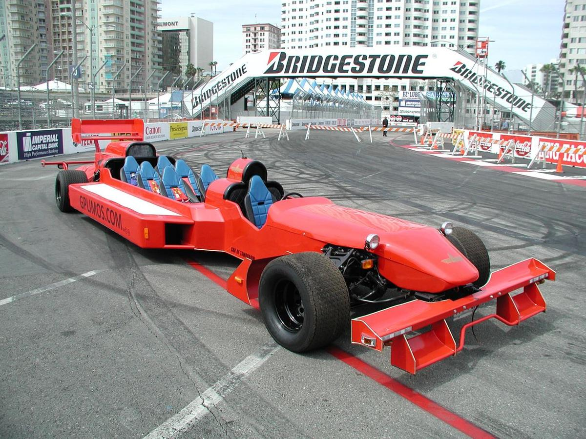 an f1 grand prix racer tunred into a limo