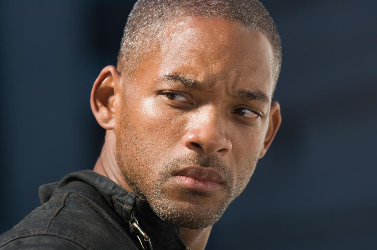 Will Smith looks over his shoulder skeptically