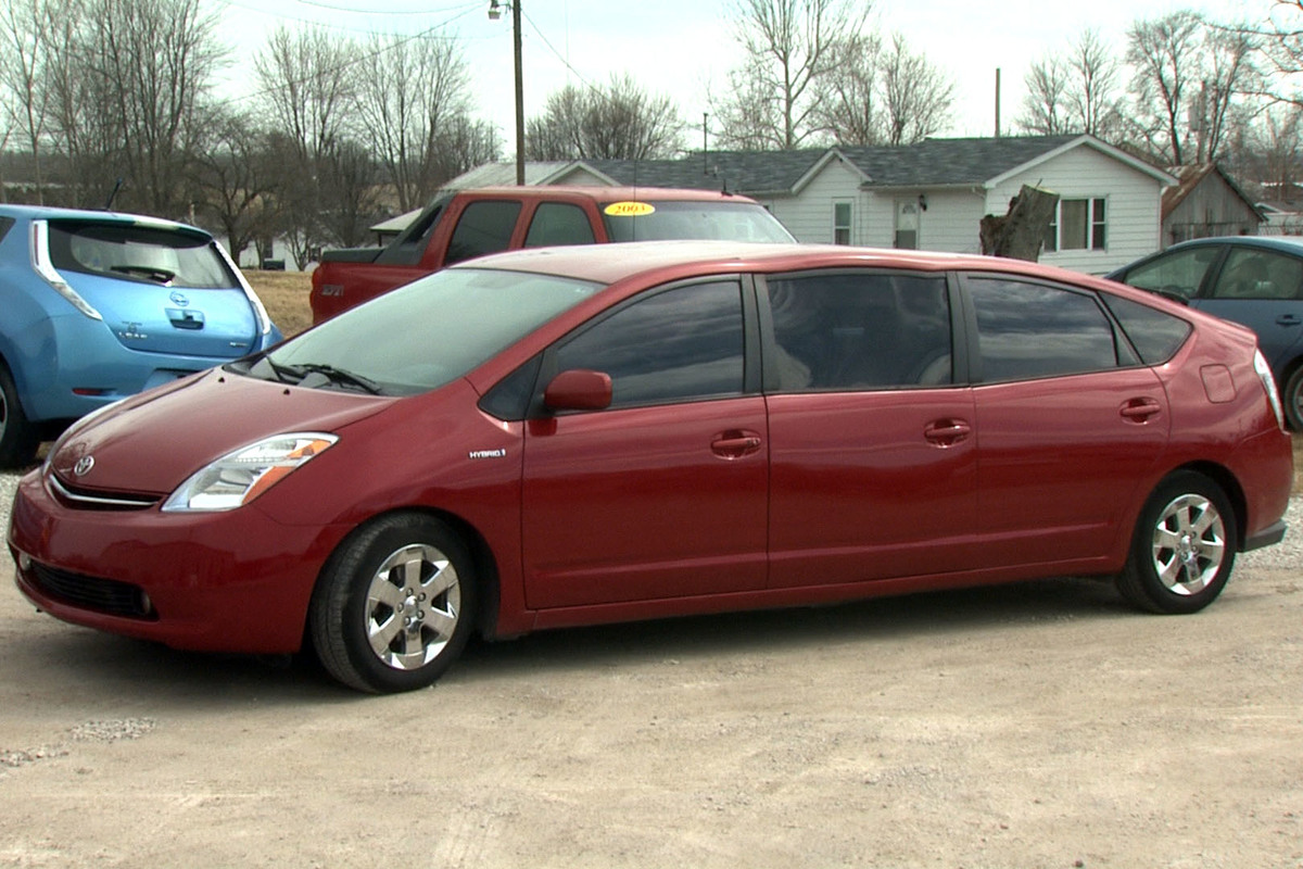 a prius turned into a limo