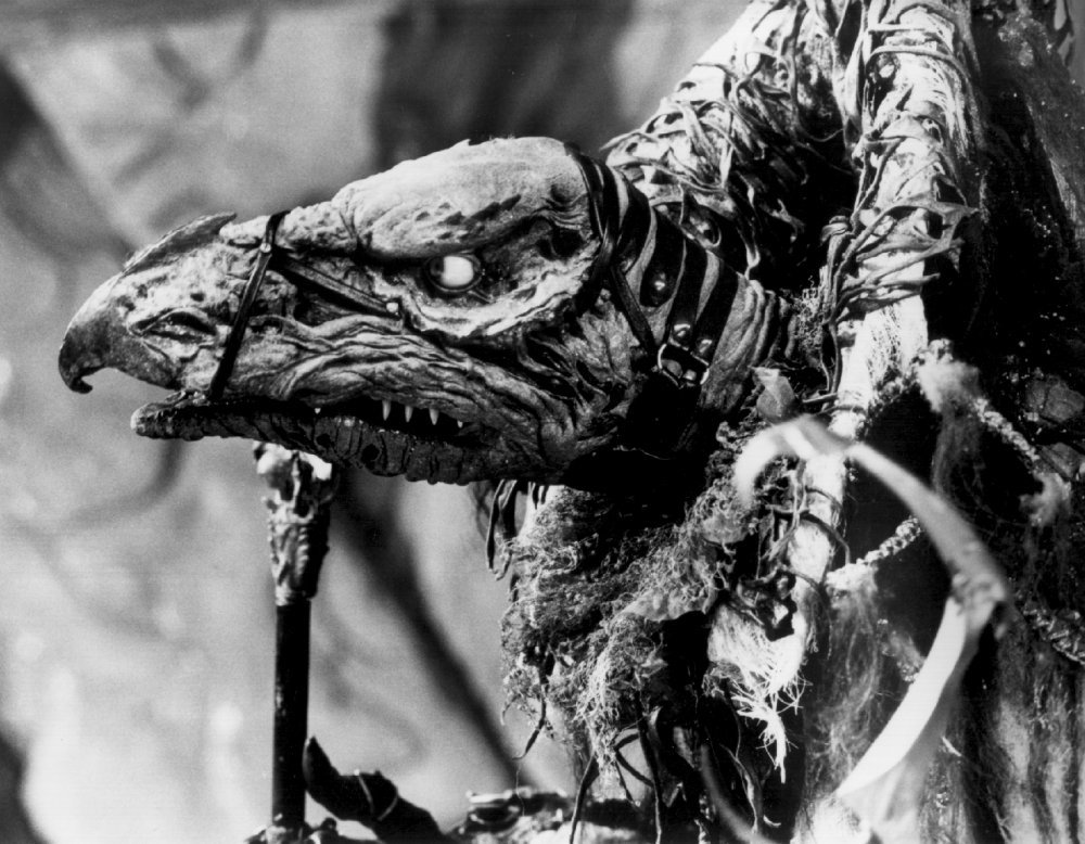 the design inspiration for the skeksis was a mishmash of animals