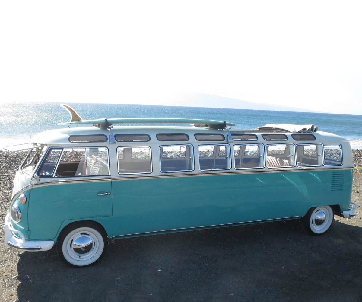 a vw bus turned into a limousine