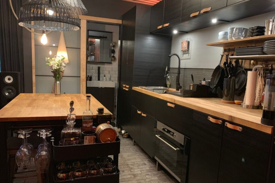 nice kitchen shipping container