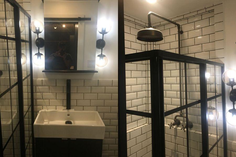 bathroom layout nice shower nice sink