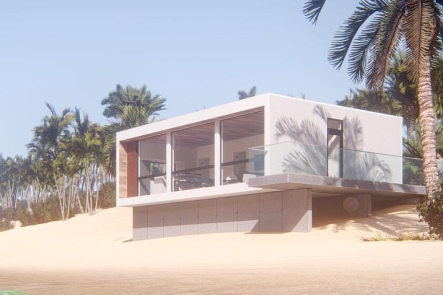 shipping container home on the beach beautiful