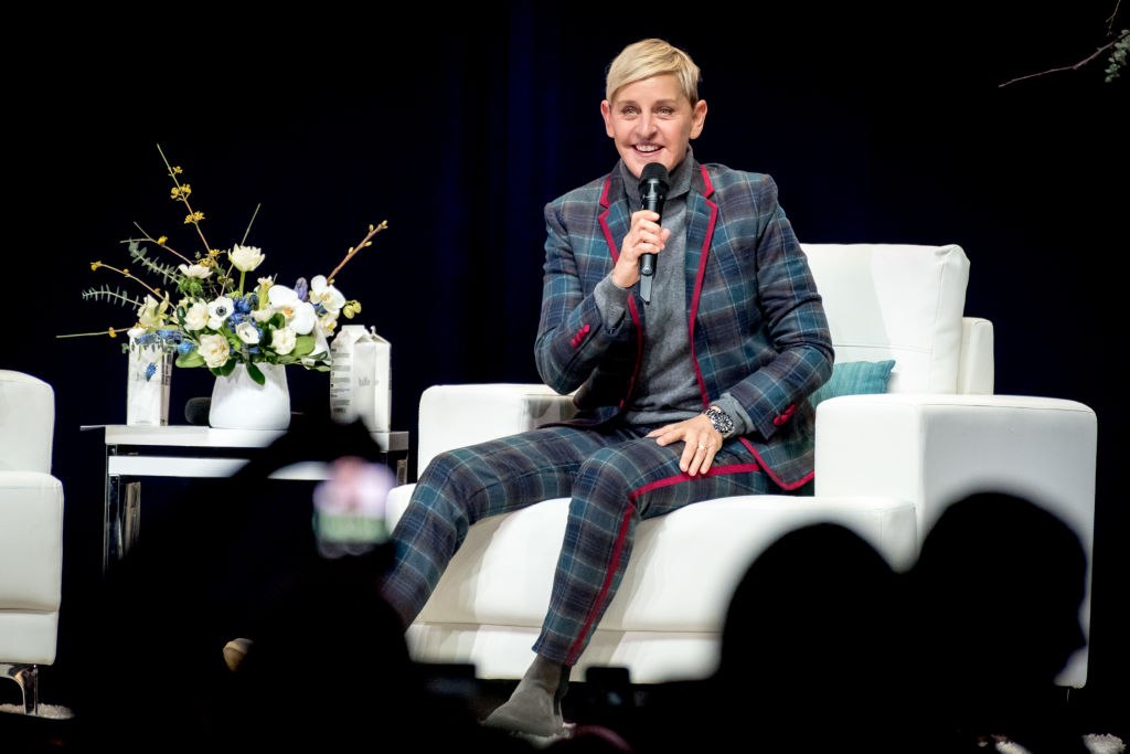 American comedian, television host, actress, writer, producer, and LGBT activist, Ellen DeGeneres was in Toronto's Scotiabank Arena