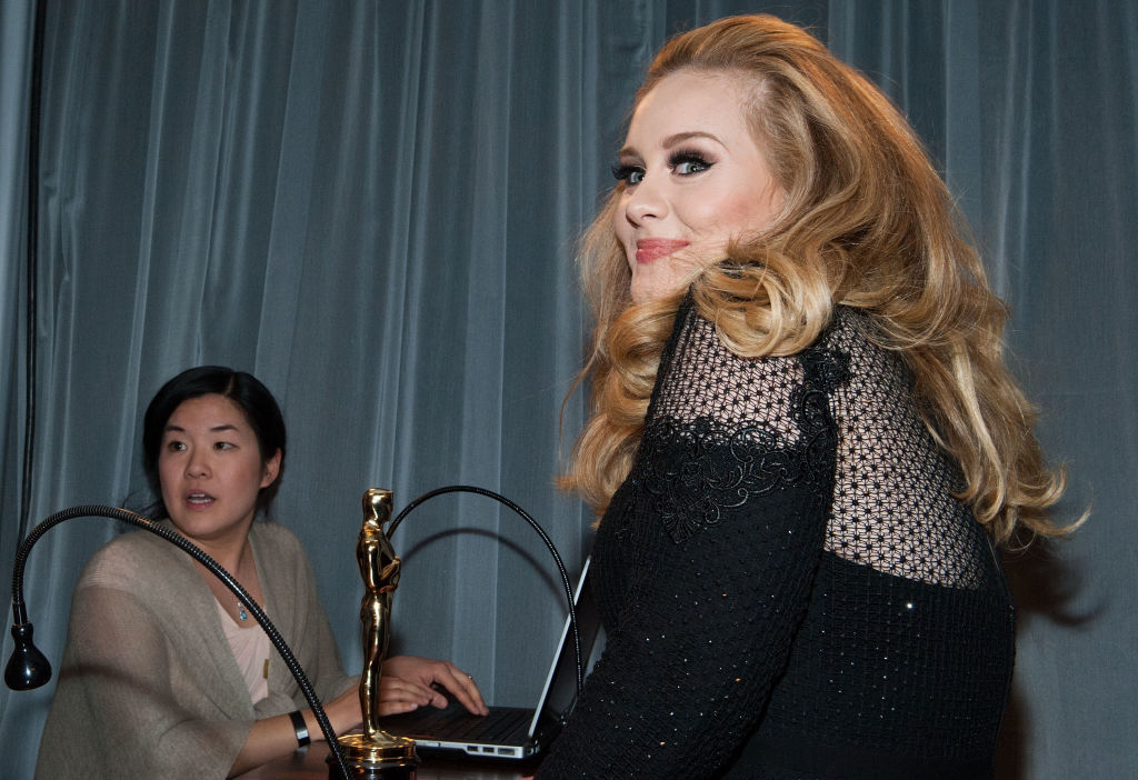 Adele arrives at the 2013 Governors Ball
