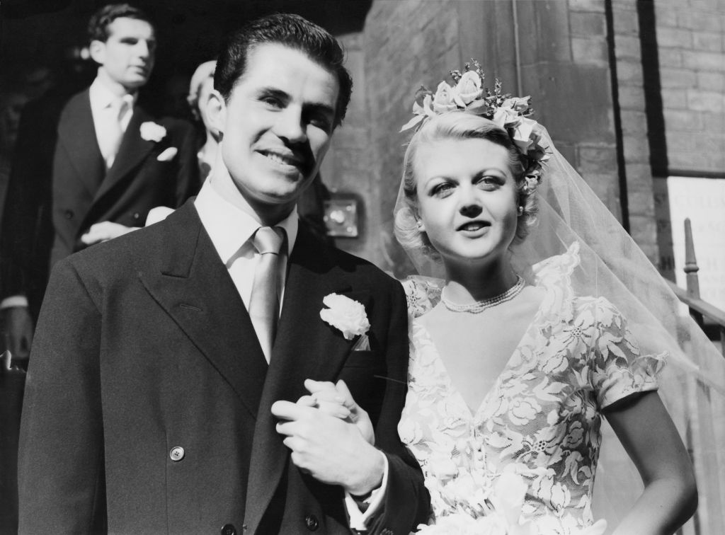 Angela and Pete on their wedding day