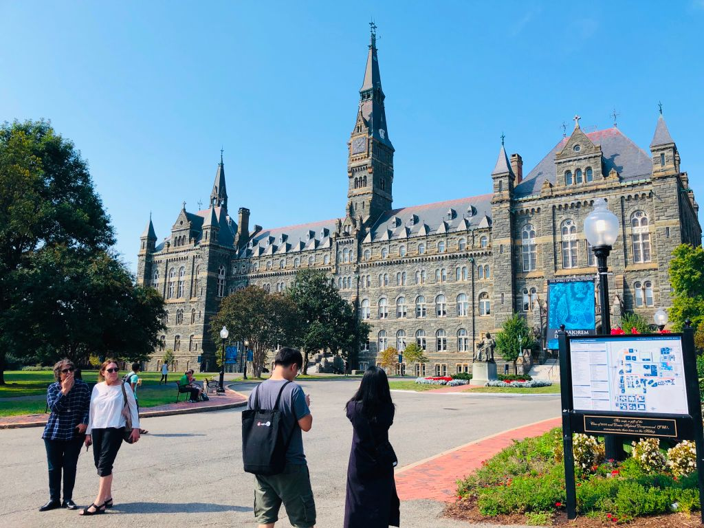 A view of Healy Hall at Georgetown University