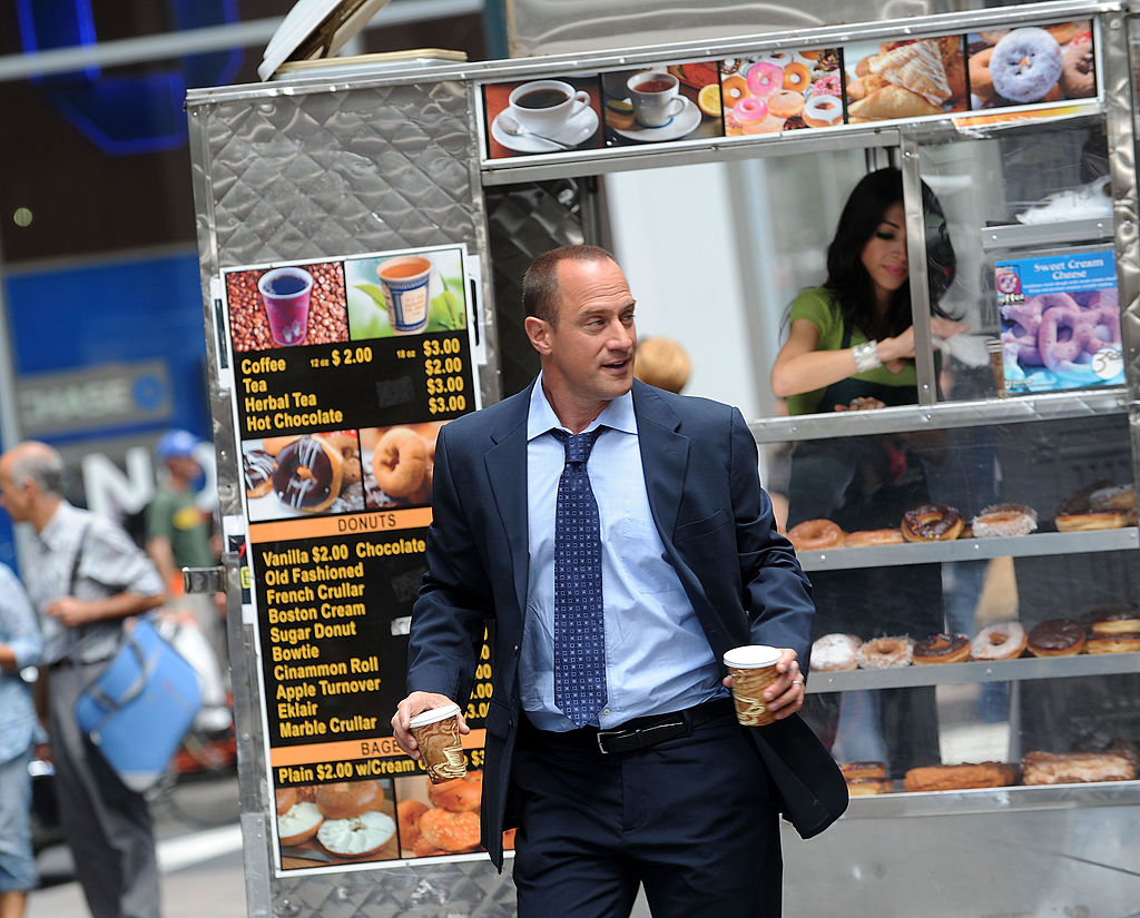 Christopher Meloni filming on location for