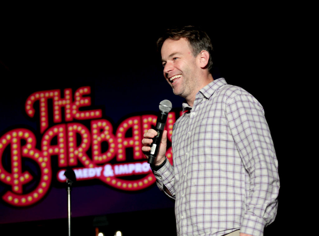 Mike Birbiglia performing stand up comedy