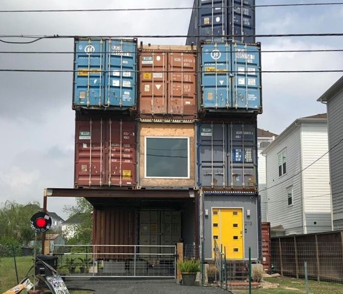 exterior of shipping container home