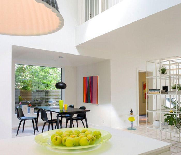 pretty modern white home interior