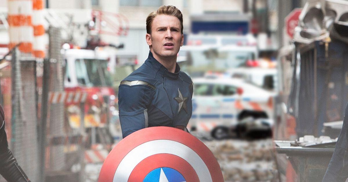 A still from Avengers: Endgame of Chris Evans as Captain America
