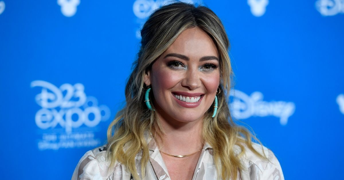 Hilary Duff attends D23 Disney+ Showcase at Anaheim Convention Center on August 23, 2019