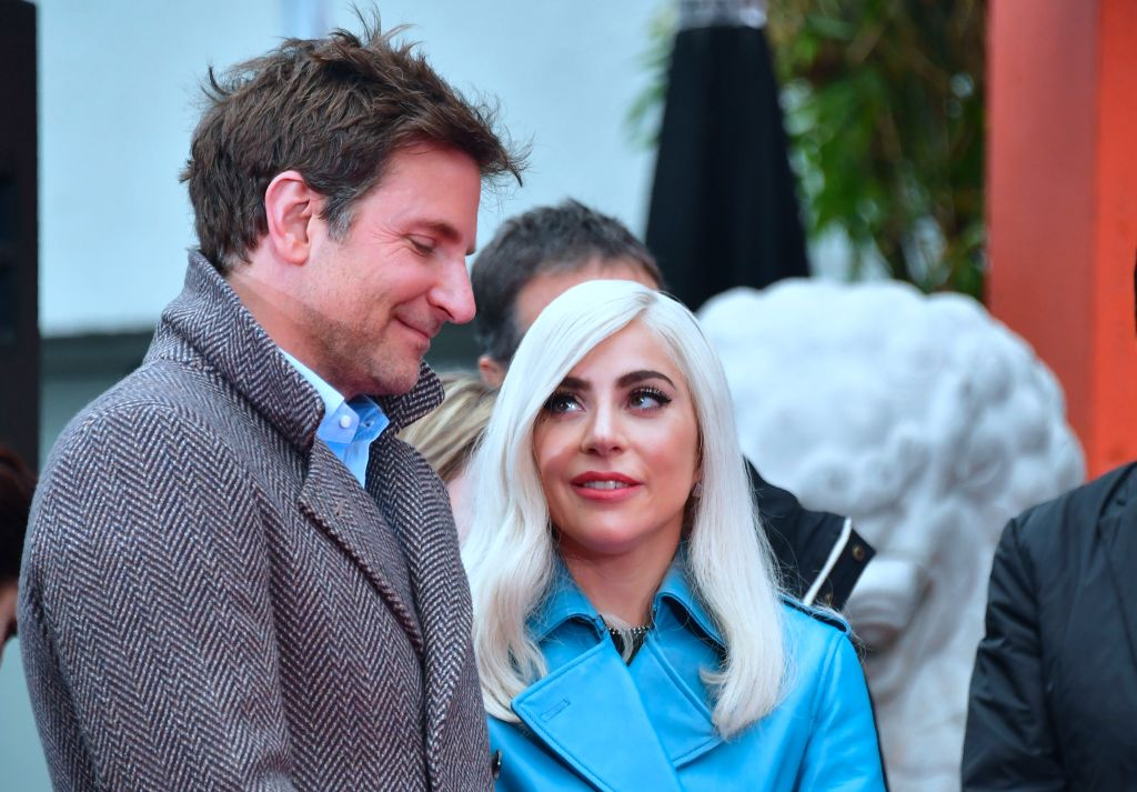bradley cooper and lady gaga in hollywood wearing winter coats