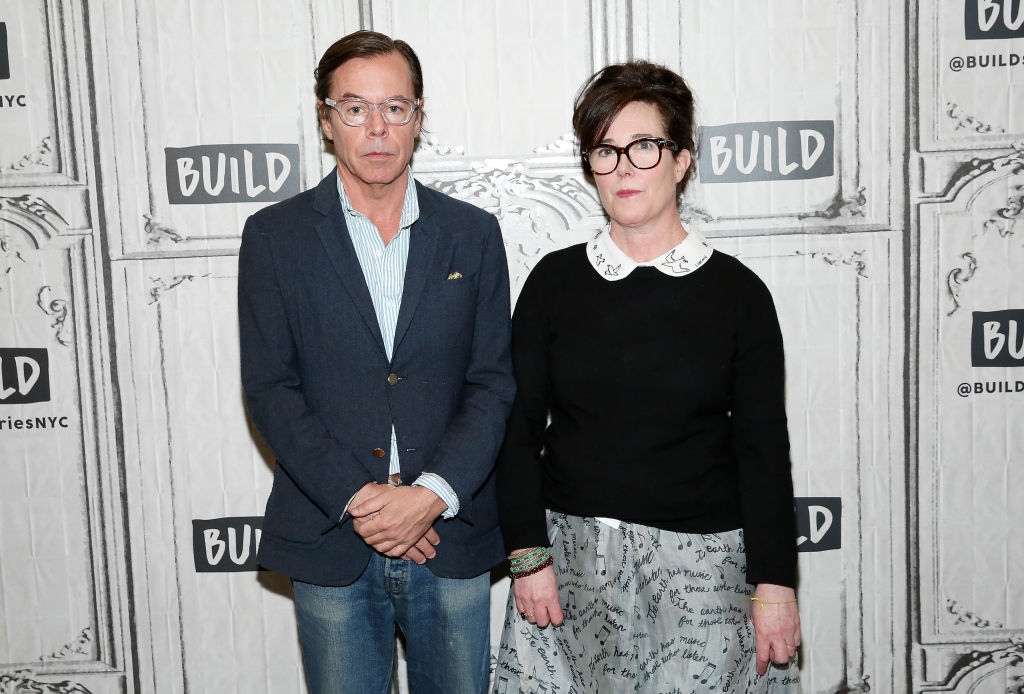 kate and andy spade at an AOL build event