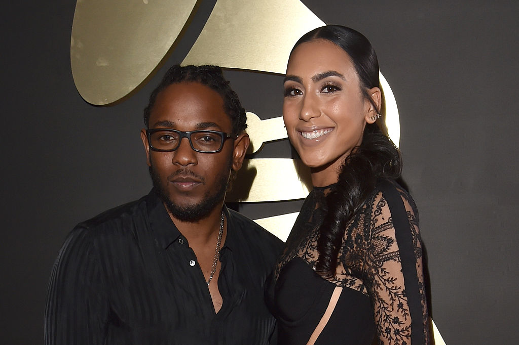 kendrick lamar and whitney alford at the grammy awards