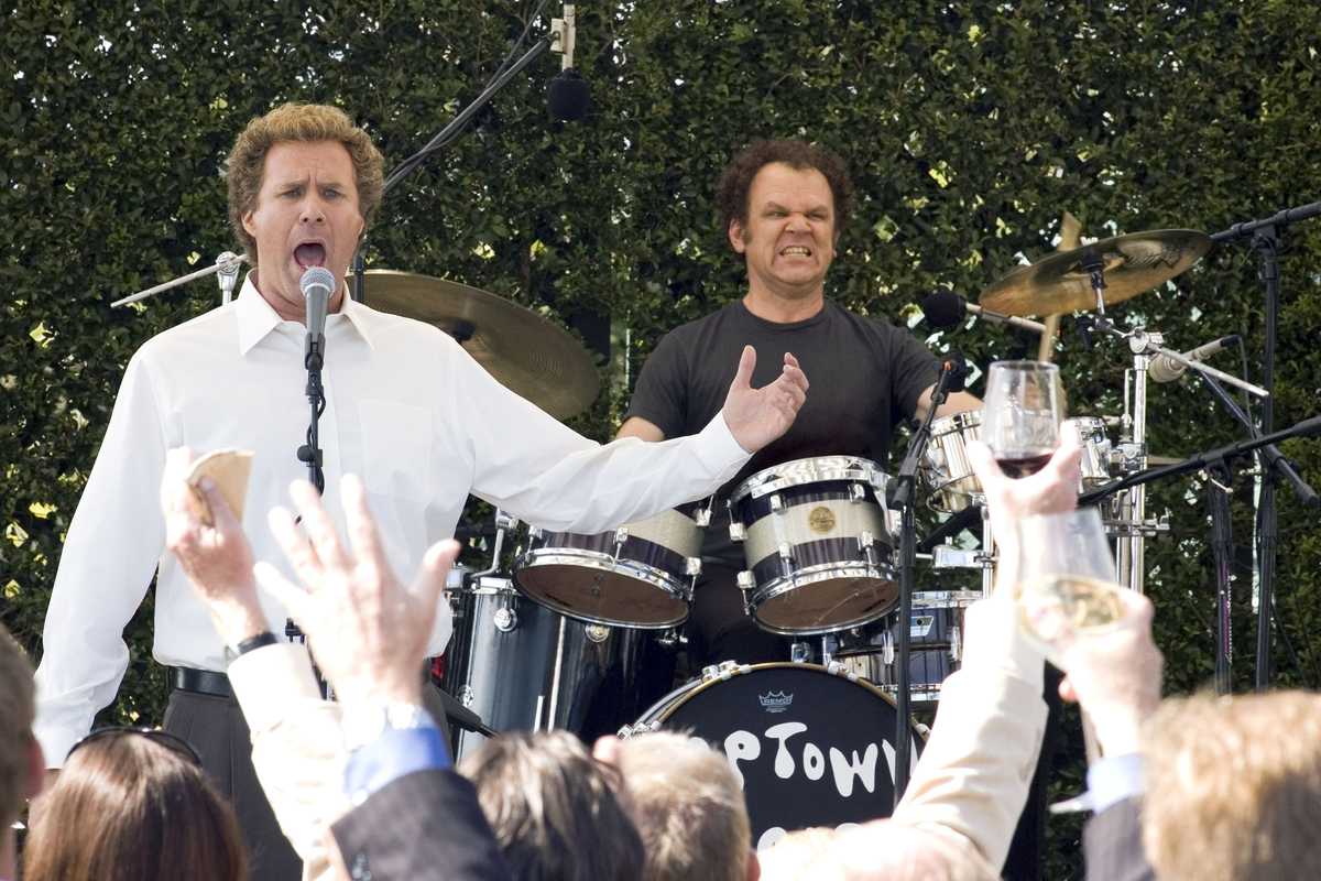 will ferrell singing and john c. reilly playing the drums at the catalina wine mixer