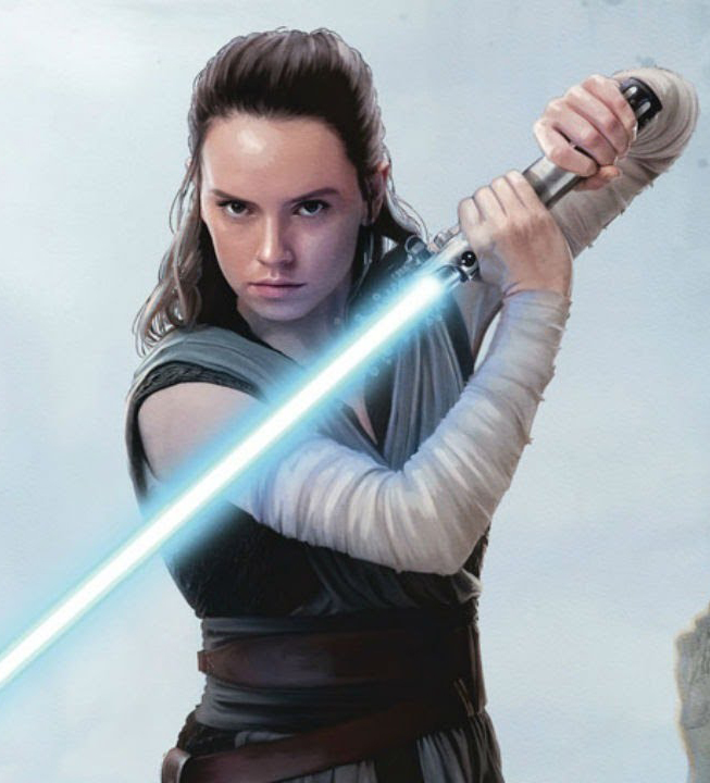 Daisy Ridley plays Rey, the main character in Star Wars: The Last Jedi.