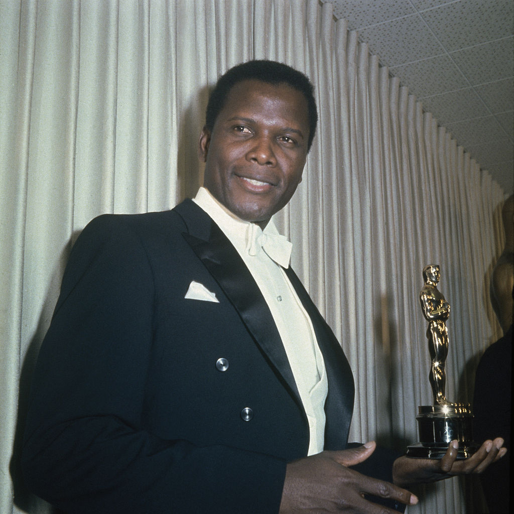 sidney with an award