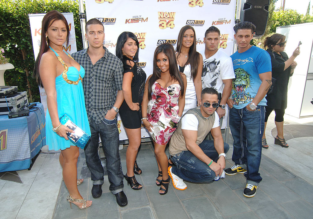 Jersey Shore cast members pose at an event.