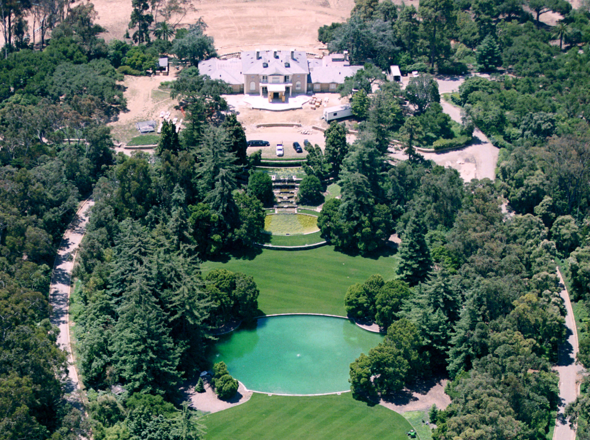 The Montecito home of talk show host Oprah Winfrey is seen from the air.