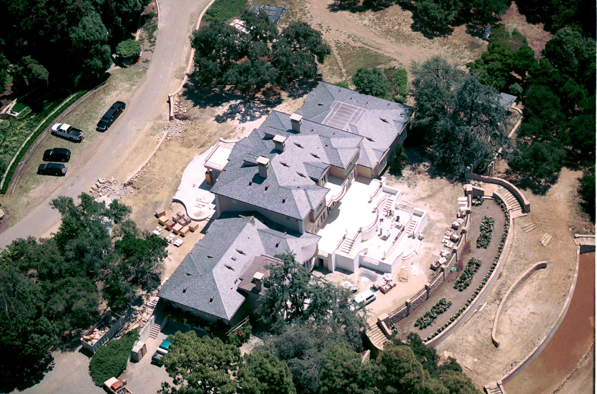 Oprah Winfrey's Montecito home is seen from the air.