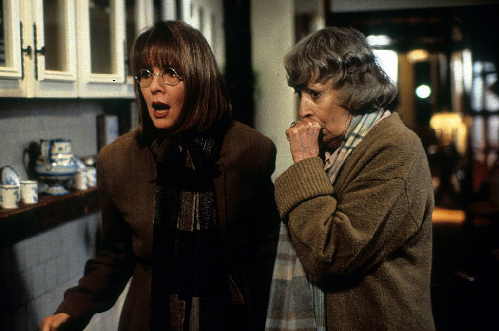 Diane Keaton looks shocked in a still from First Wives Club.