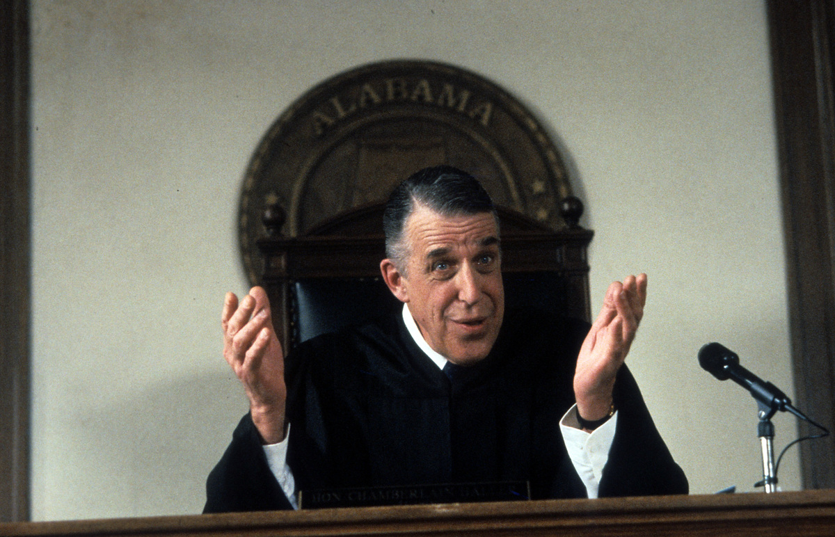 fred gwynne as the judge in my cousin vinny