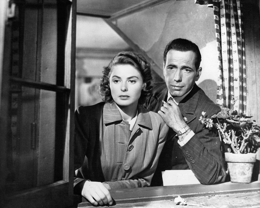Humphrey Bogart in a window