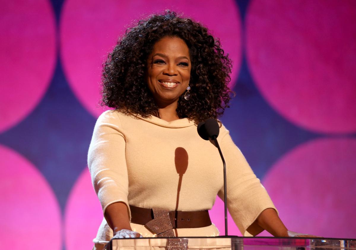 Oprah Winfrey speaks onstage during the 2015 Film Independent Spirit Awards.