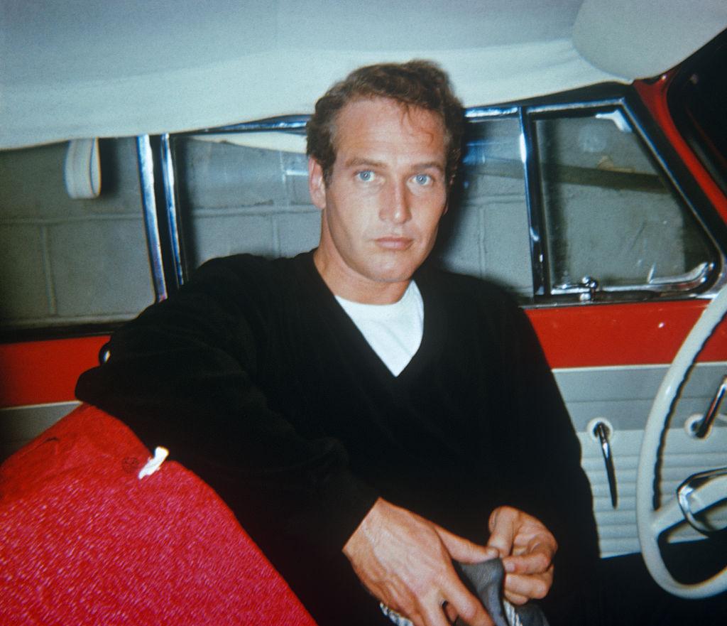 Mr. Newman in a car