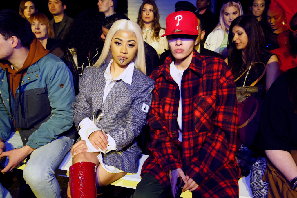 Hennessy Carolina and Michelle Nell attend Dirty Pineapple front row during New York Fashion Week