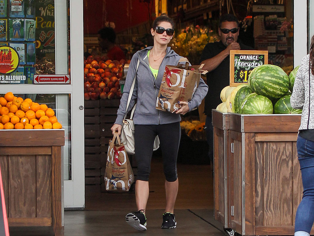 Ashley Greene is seen shopping at Bristol Farms