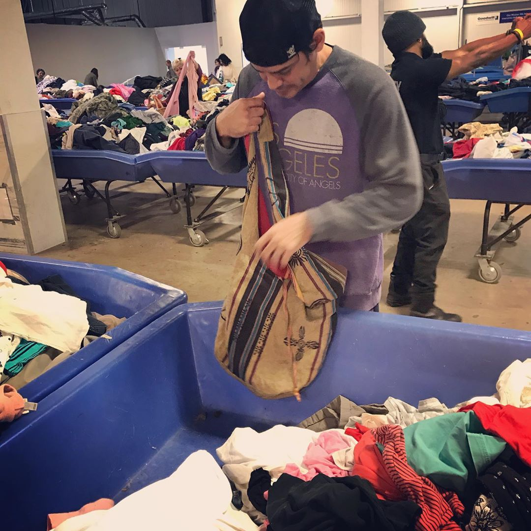 going through thrift clothes