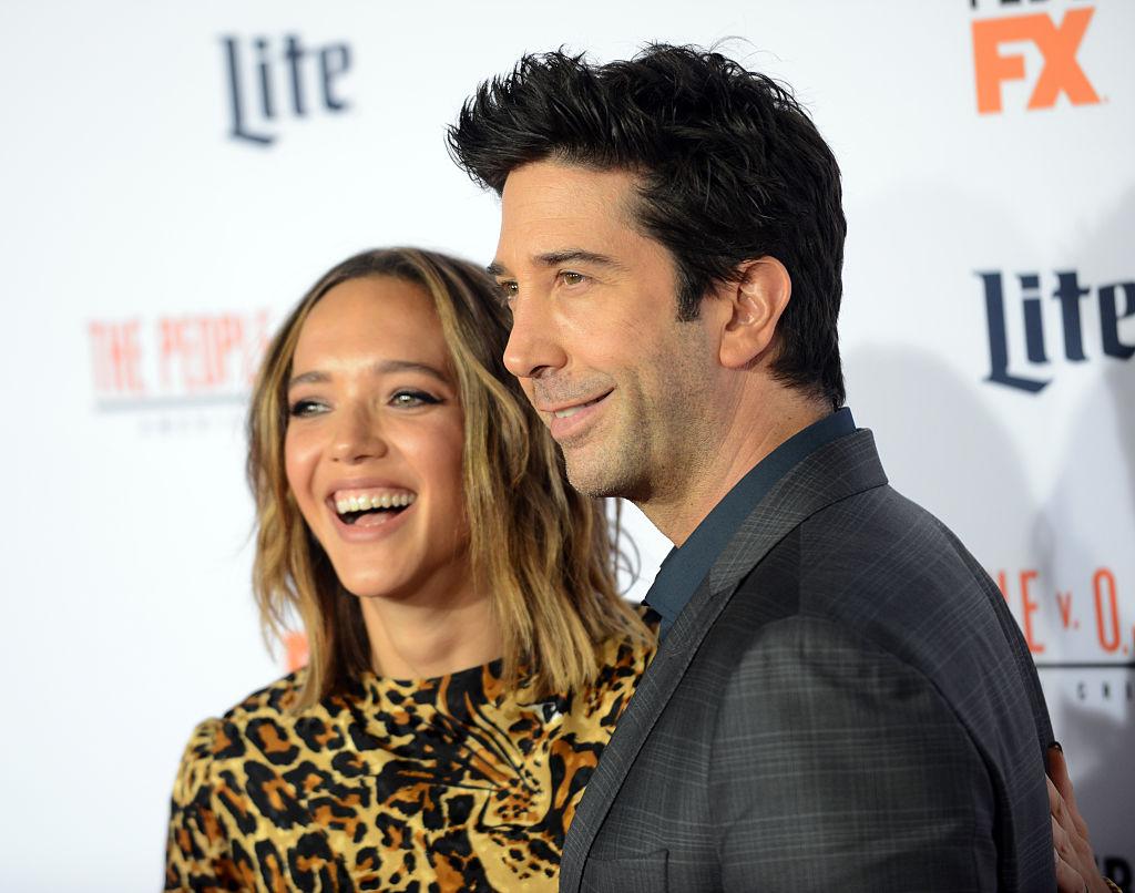 David and Zoe pose at a Hollywood premiere.