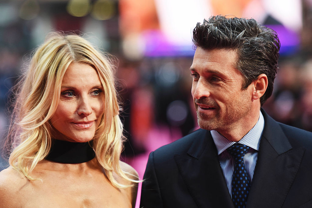Patrick Dempsey smiles at his wife.