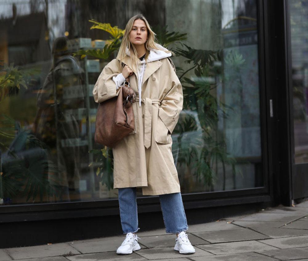 Carrying a large handbag